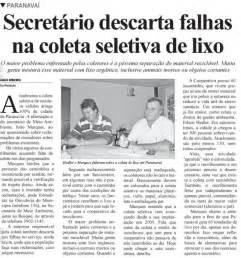 Reportagem Sobre Os Perigos Do by Secretaria Municipal Do Meio Ambiente De Paranavai Reportagem Do Di 225 Do Noroeste 04 04 2013