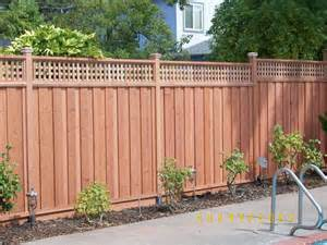 Cost Of Fencing Backyard - redwood fence with lattice top outdoor ideas pinterest