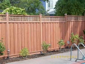 redwood fence with lattice top backyard pinterest backyard fence styles and yards