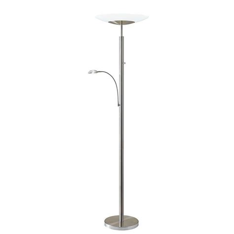adesso stellar 72 in silver led combo torchiere 5128 22