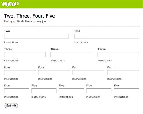 design form in css how to arrange form fields to sit next to each other in