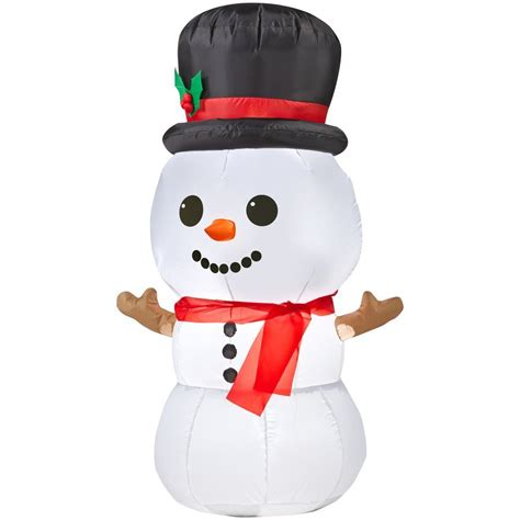 Snowman Decorations by Gemmy Airblown Baby Snowman Outdoor