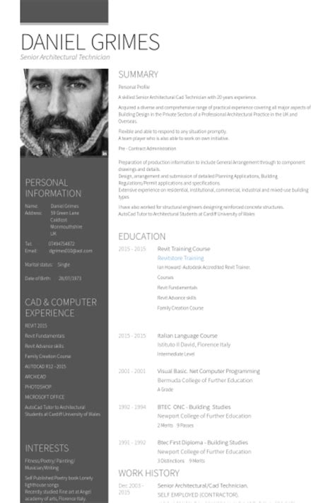 Cv Resume Example by Senior Architect Resume Samples Visualcv Resume Samples