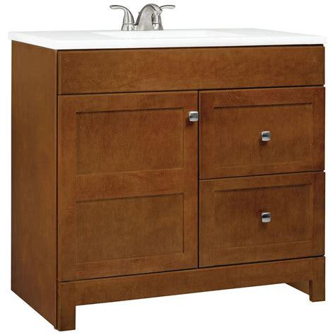 36 inch wide bathroom vanity glacier bay chestnut vanity with white square bowl vanity