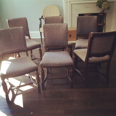 Monogrammed Beach Chairs Sale Behold 6 1920s Era Solid Mahogany Chairs For Breakfast