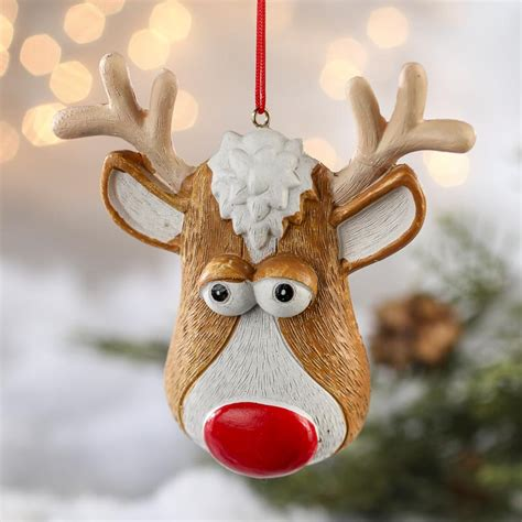reindeer ornaments rudolph the nosed reindeer ornaments crafts