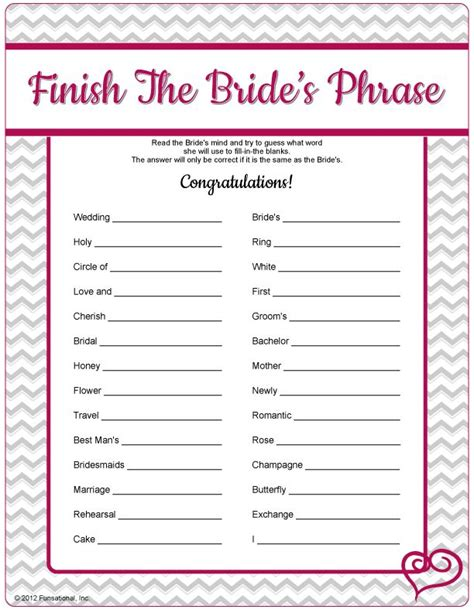 printable bridal shower games with answers video search