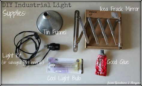 Diy Industrial Light Fixture From Gardners 2 Bergers Diy Industrial Style Expandable Light