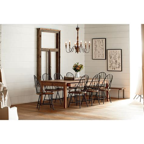 farmhouse dining set with bench magnolia home by joanna gaines farmhouse 10 piece dining