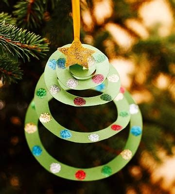easy kid ornaments construction paper tree ornament