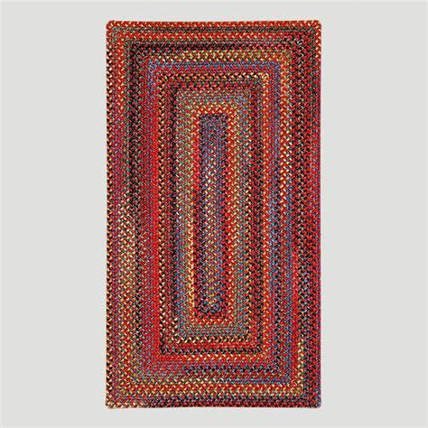 rectangle braided rugs cardinal concentric rectangle plymouth braided rug world market