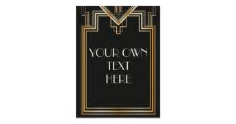 great gatsby inspired custom signage poster zazzle