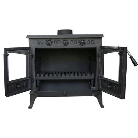 Home 3 Sisi Gb8309 Multi 3 Station Gb 8309 Sit Up 12kw cast iron log burner woodburner modern multifuel wood burning stove ebay