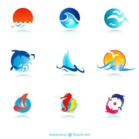 imagenes vectores logos logos marinos descargar vectores gratis