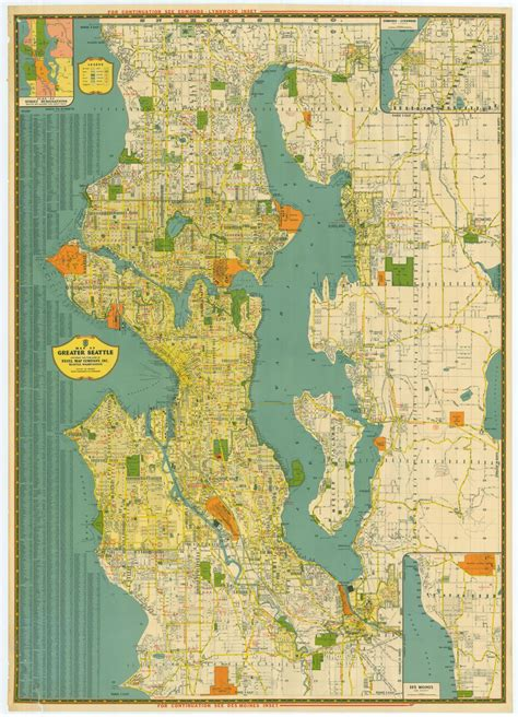 seattle map gis greater seattle 1940s kroll map company