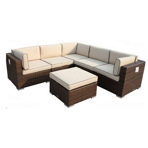 corner sofa set florida 6 piece rattan corner sofa set in chocolate with
