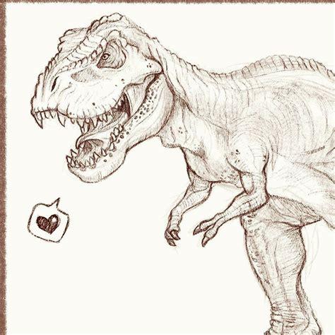 Drawing T Rex Dinosaur by T Rex Sketch Trex Impalasart Sketch Drawing Dinosaur