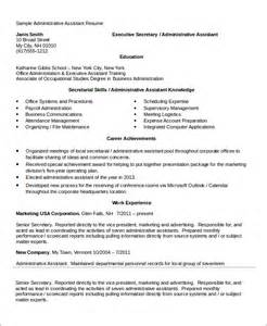 sr executive assistant resume 28 images 10 executive