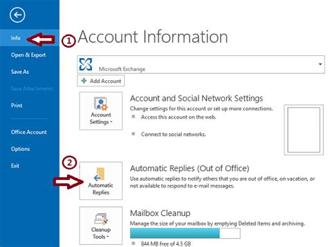 How To Set Out Of Office In Outlook 2007 by How To Use The Out Of Office Assistant In Outlook