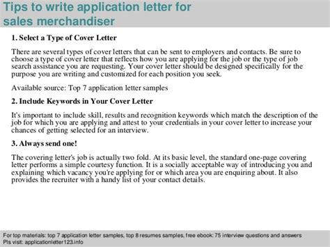 Application Letter Visual Merchandiser sales merchandiser application letter