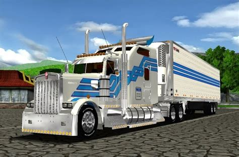 Truck 18 Wheels Of Steel Kw 900 18 Wos Haulin Image
