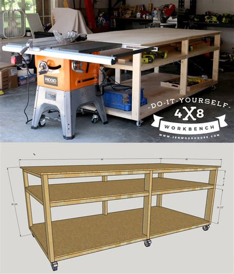 garage work table designs diy workbench