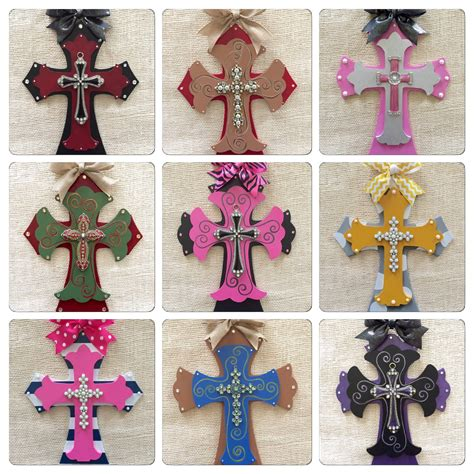 decorative crosses for the home wooden decorative crosses custom order cross painted