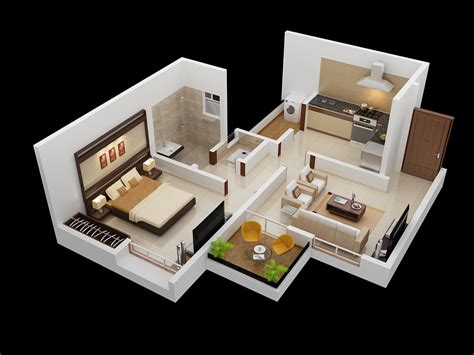 simple one bedroom interior design ideas