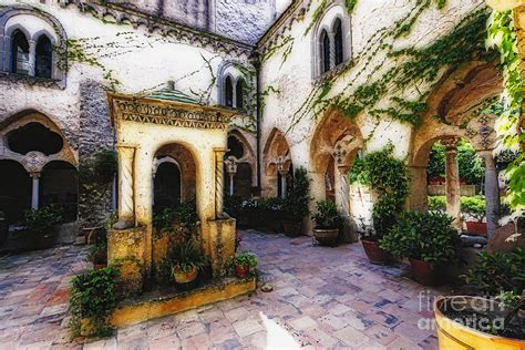 Mediterranean House Plans With Photos Southern Italy Villa Courtyard Photograph By George Oze