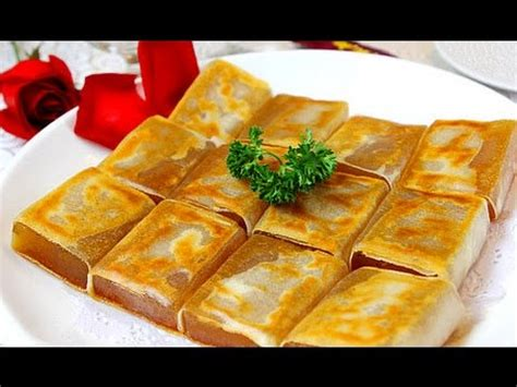 how to fry new year rice cake 傳統香煎年糕 nian gao with egg recipe new year sticky
