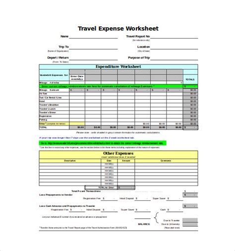 Excel Business Expense Template by Expense Sheet Template Free Excel Documents