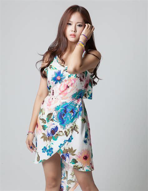 flower pattern gowns floral pattern dress korean fashion