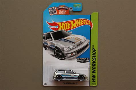 Hotwheels Honda Civic Ef Us Card wheels 2015 hw workshop 90 honda civic ef zamac
