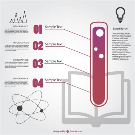 chemistry template chemistry infographic template vector free