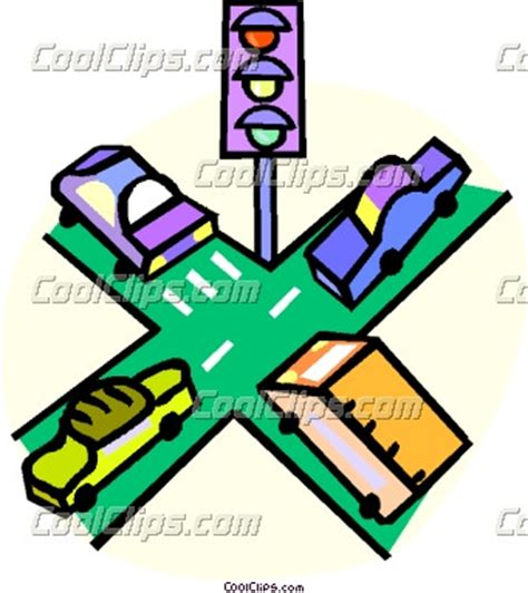 inter section vehicles at an intersection clipart panda free clipart