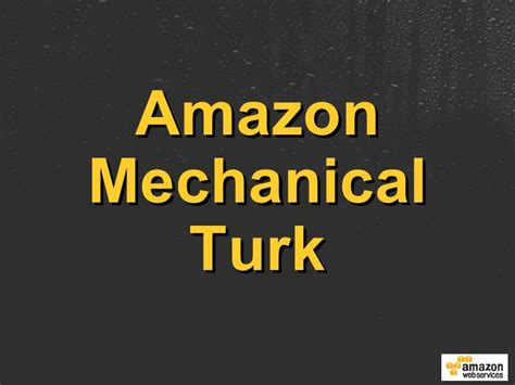 amazon mechanical turk artificial artificial intelligence using amazon