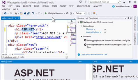 asp net which is the best way to add a retry rollback visual studio 2013 rc for web developers one asp net