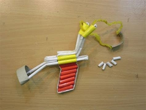 How To Make Paper Slingshot - how to make a paper slingshot simple and strong p51