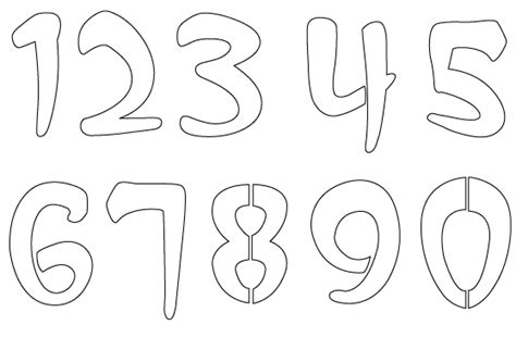 free number templates to print printable numbers stencil for coloring coloring