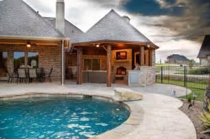 patio cabanas heath tx outdoor kitchen cabana fireplace rustic