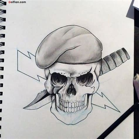 army skull tattoo designs best army skull and dagger stencil image golfian