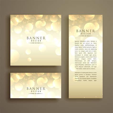 Shiny Card Template by Shiny Bokeh Card Design Template Free Vector