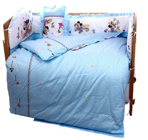 Mickey Mouse Cot Bumper Bedding Sets Promotion 10pcs Mickey Mouse Baby Crib Bedding Set Crib Set Comforter Cot Quilt Sheet Bumper