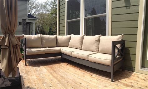 outdoor furniture sectionals ana white weatherly patio sectional seats 6 diy projects