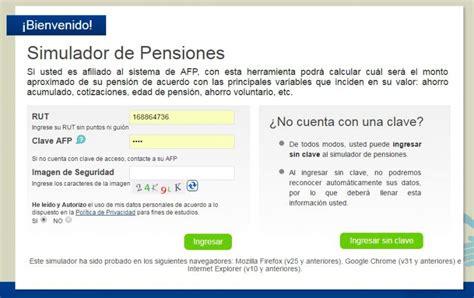 monto pension sso para sept 2016 afp simula cu 225 l ser 225 el monto aproximado de tu pensi 243 n