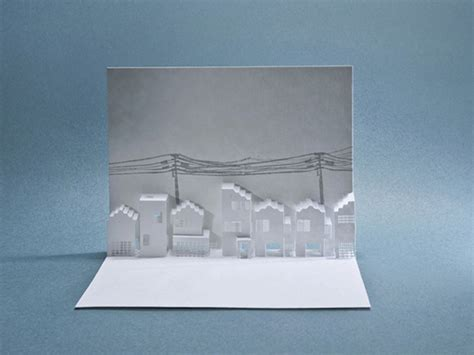 How To Make Pop Ups On Paper - pop up paper architecture made with laser cut 10 fubiz media
