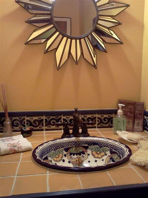 talavera bathroom bathroom sink and tile in talavera ba 241 os pinterest