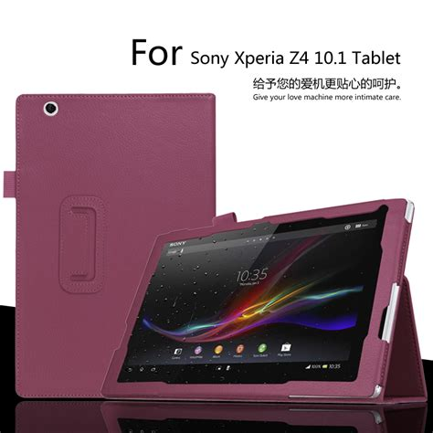 Tablet Sony 7 Inch for sony xperia z4 10 1 inch tablet litchi pu leather