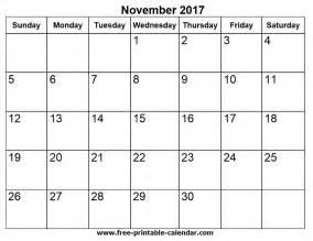 Calendar November 2017 Printable Free Free Printable Calendars For Free November 2017