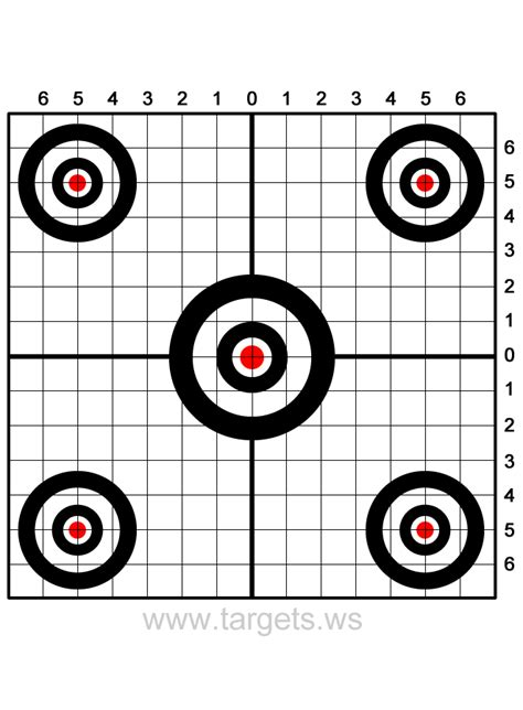 printable free rifle targets http www targets ws shooting targets sight in target 3